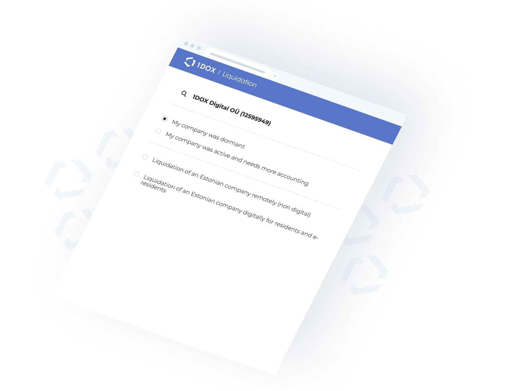 1DOX Digital - Ettevõtte likvideerimine