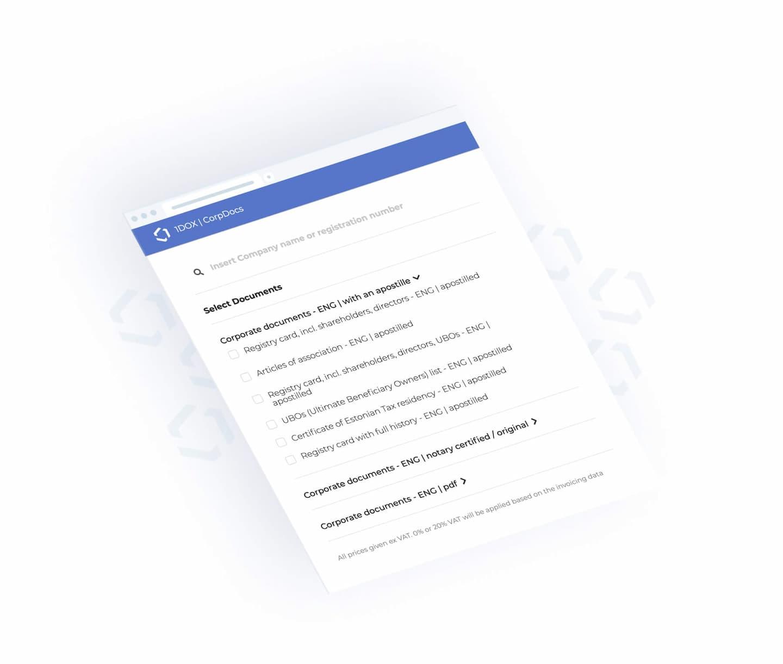 1DOX Digital - Eesti ettevõtte registridokumentide tellimine inglise keeles